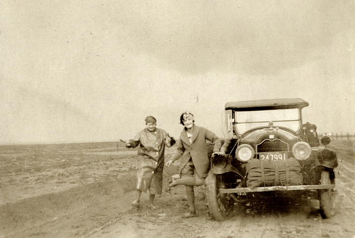Gertrude and Beatrice Stuck in the Mud