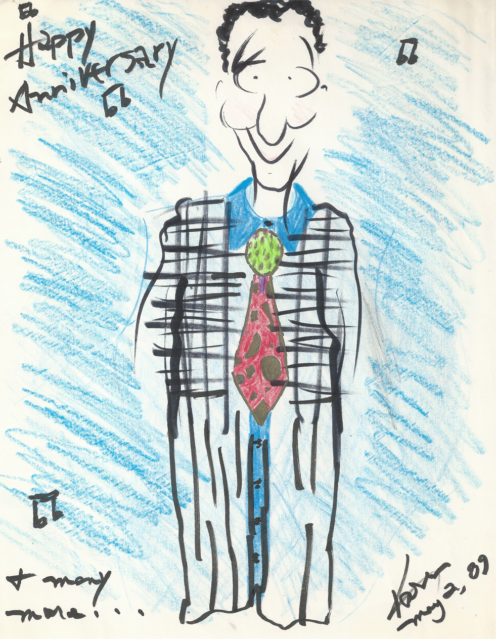 Character Drawing of Bill Wooby
