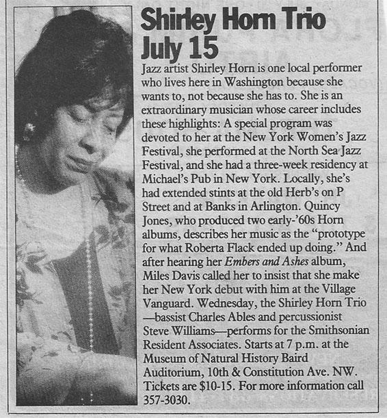 Shirley Horn Trio