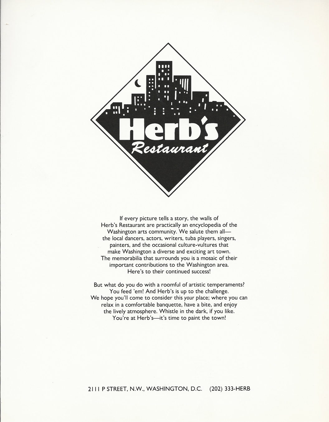Herb\'s Restaurant Menu