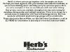 thumbs herbscard 0 Herbs Restaurant