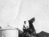 George Wooby riding a horse at a farm in Newark, NJ