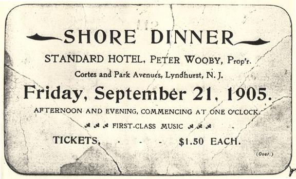 Shore Dinner Ticket